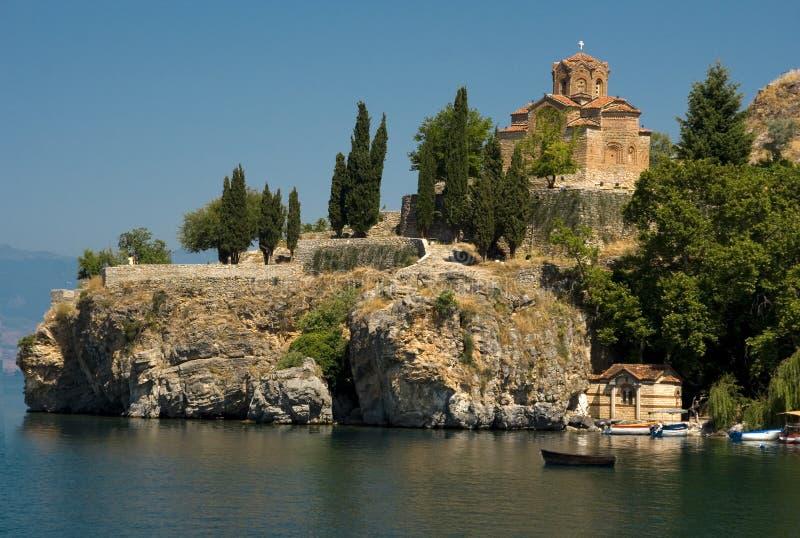 Sv. Jovan, Kaneo church Ohrid, Macedonia royalty free stock images