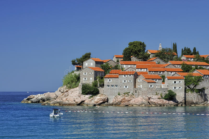 Sv. Stefan海岛, Montenegro 免版税库存照片