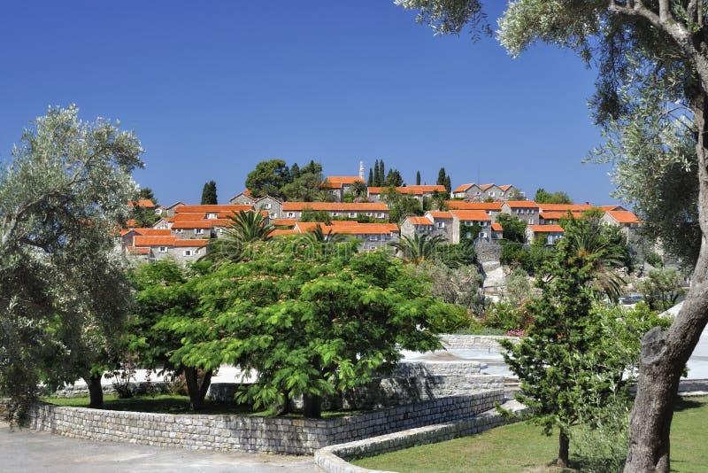 Sv. Stefan海岛, Montenegro 免版税图库摄影