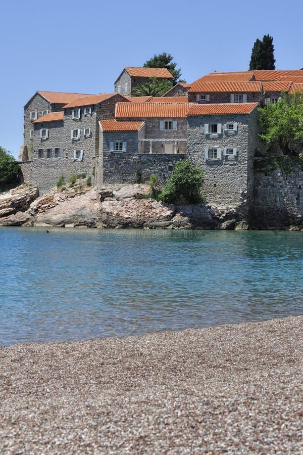 Sv. Stefan海岛, Montenegro 库存图片