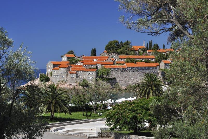 Sv. Stefan ö, Montenegro arkivbild