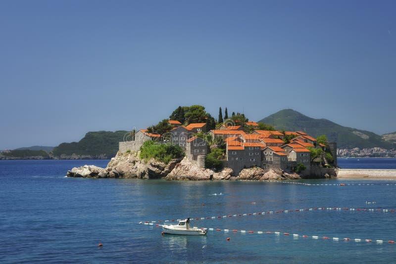 SV. Stefan Island, Μαυροβούνιο στοκ φωτογραφία