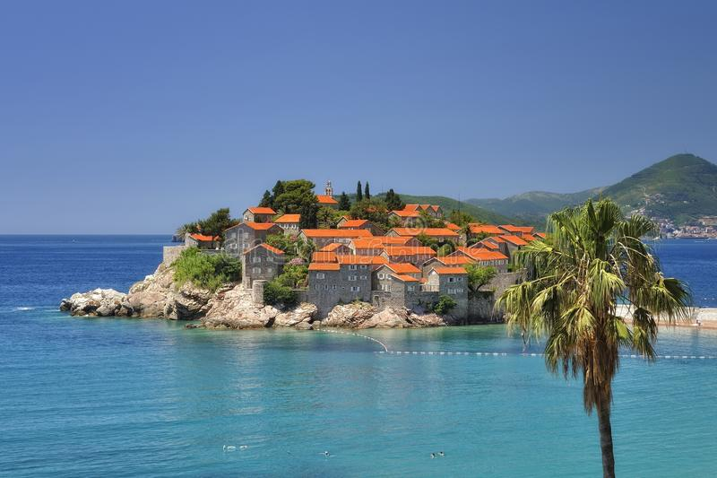 Sv. Stefan Island, Montenegro. Little Sv. Stefan Island in the Adriatic sea, Montenegro royalty free stock photography