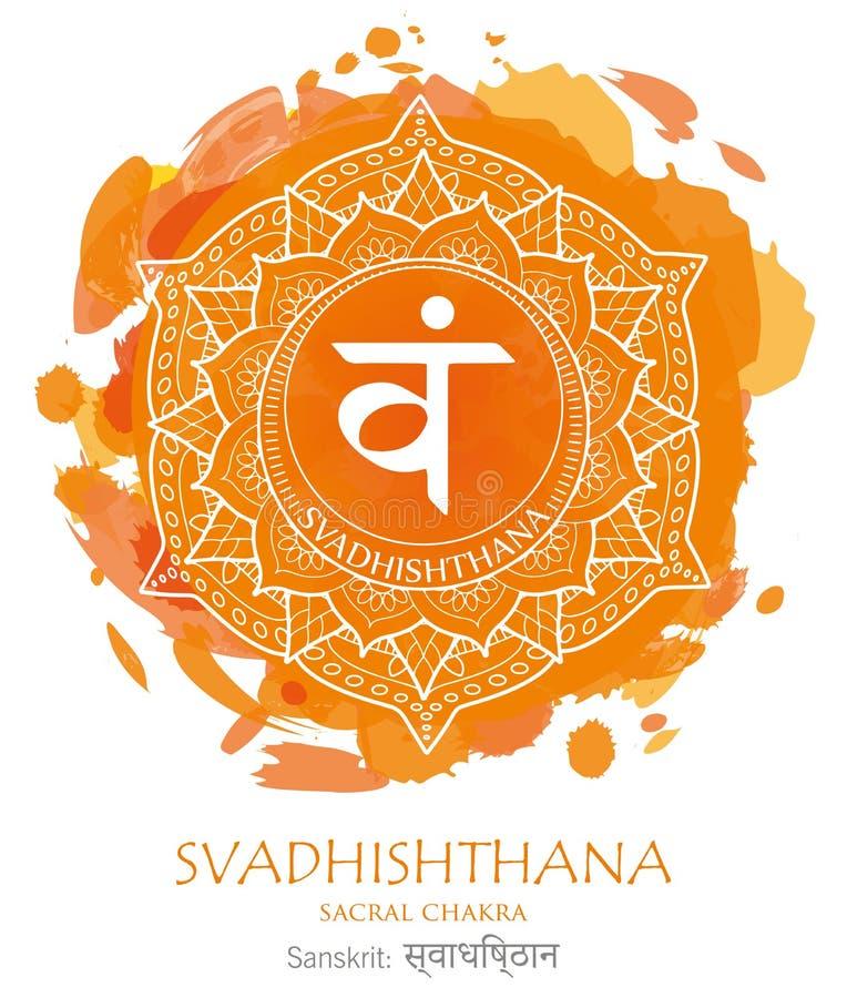 Svadhishthana chakra vector stock images