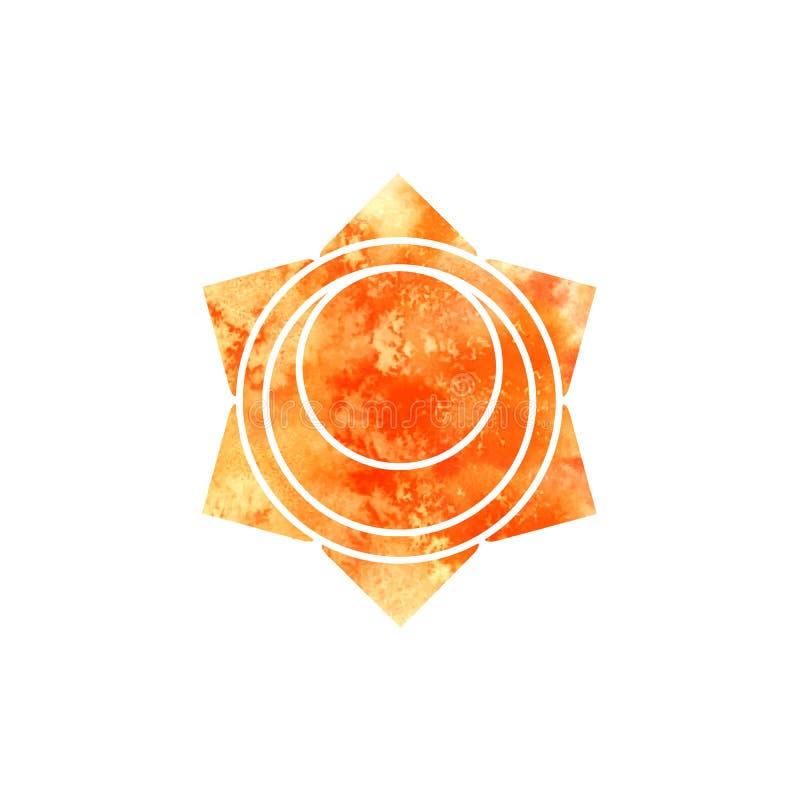 Svadhisthana查克拉 神圣的几何 其中一个在人体的能源中心 供瑜伽使用打算的设计的对象 皇族释放例证