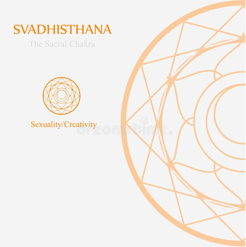 Svadhisthana- The sacral chakra stock illustration