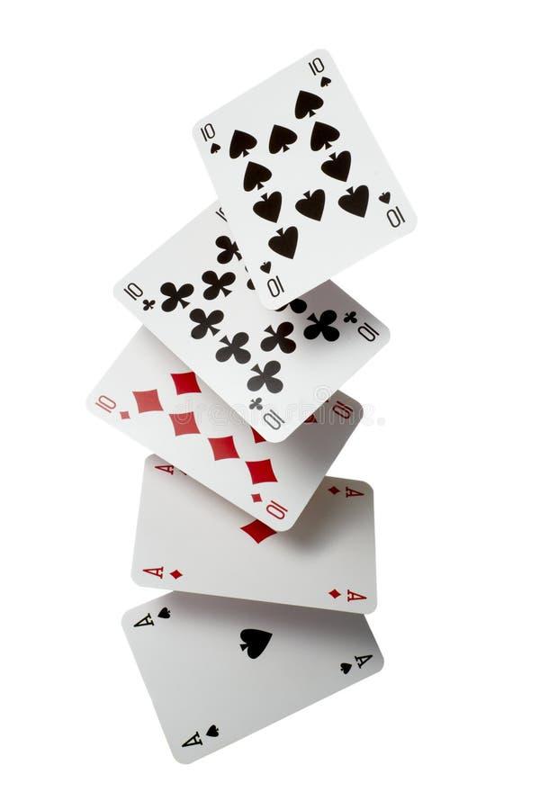 Svago del gioco di gioco della mazza delle schede di gioco immagini stock
