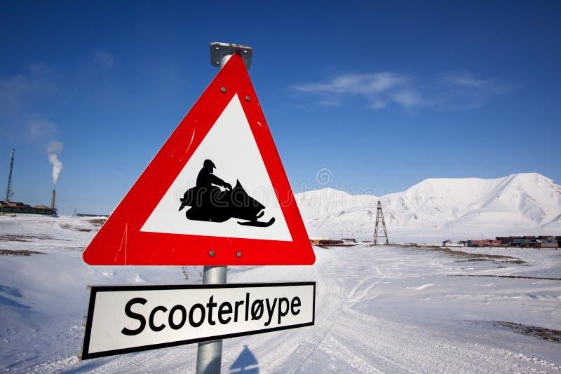 Download Svalbard Detail stock image. Image of path, skidoo, village - 9651123