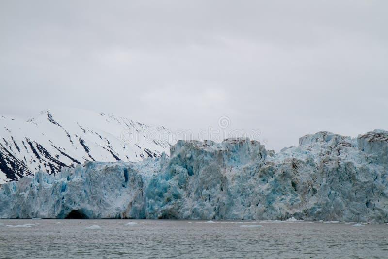 Svalbard glaciär fotografering för bildbyråer