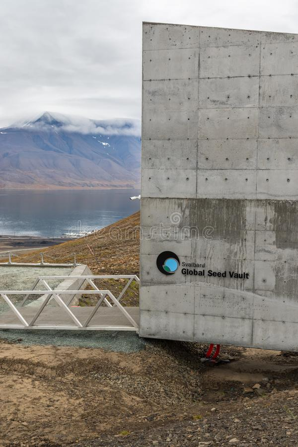 Svalbard Globale Zaadkluis stock foto's
