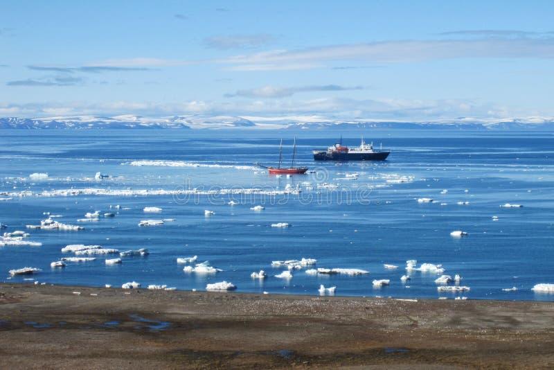 Svalbard kust arkivbild