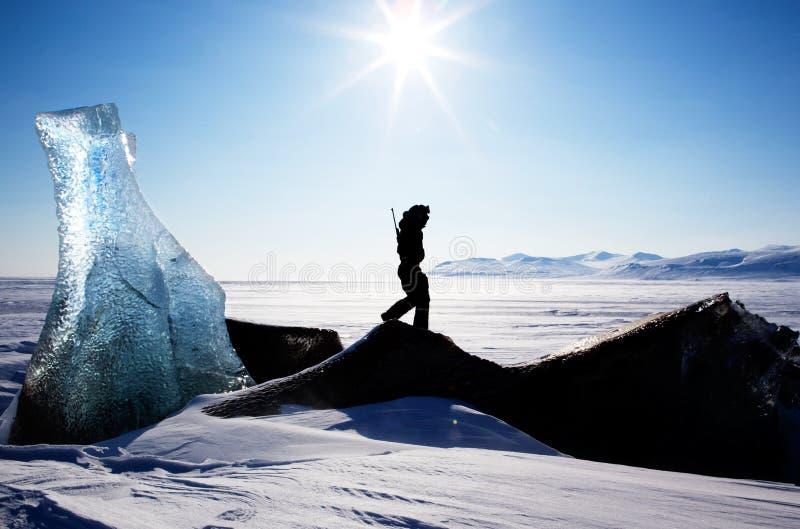Svalbard Landschap stock afbeelding
