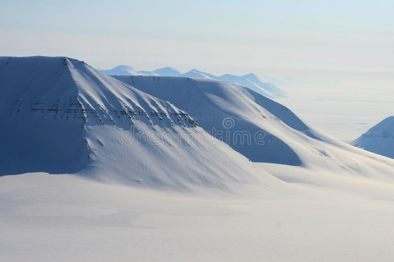 Svalbard Norway. Skiing expedition in Svalbard Norway royalty free stock photography