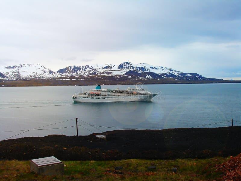 svalbard visión desde el soporte Olaf noruega Una ruta turística fotografía de archivo