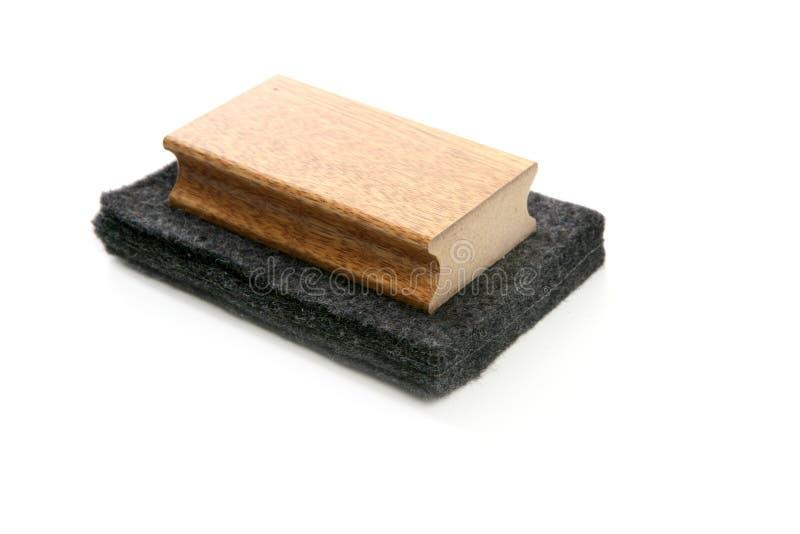 svamp för rengöringsmedel för tavla för blackboardkrita arkivbilder