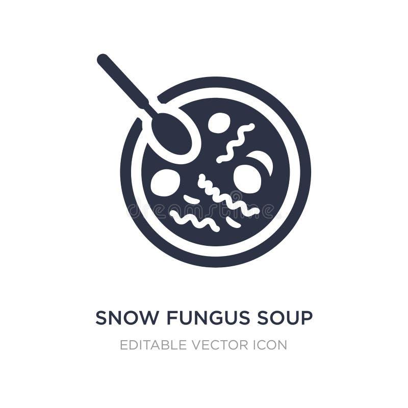 svamp soppasymbol för snö på vit bakgrund Enkel beståndsdelillustration från matbegrepp vektor illustrationer