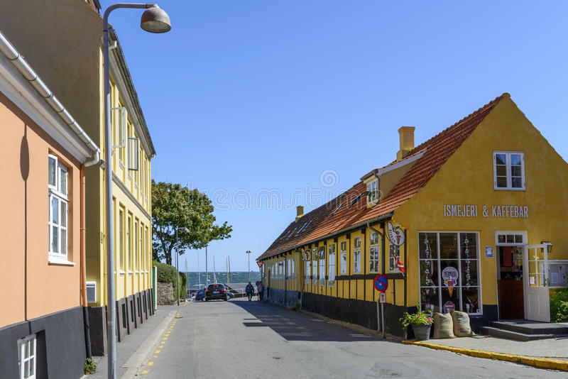 Svaneke sull'isola di Bornholm immagine stock libera da diritti
