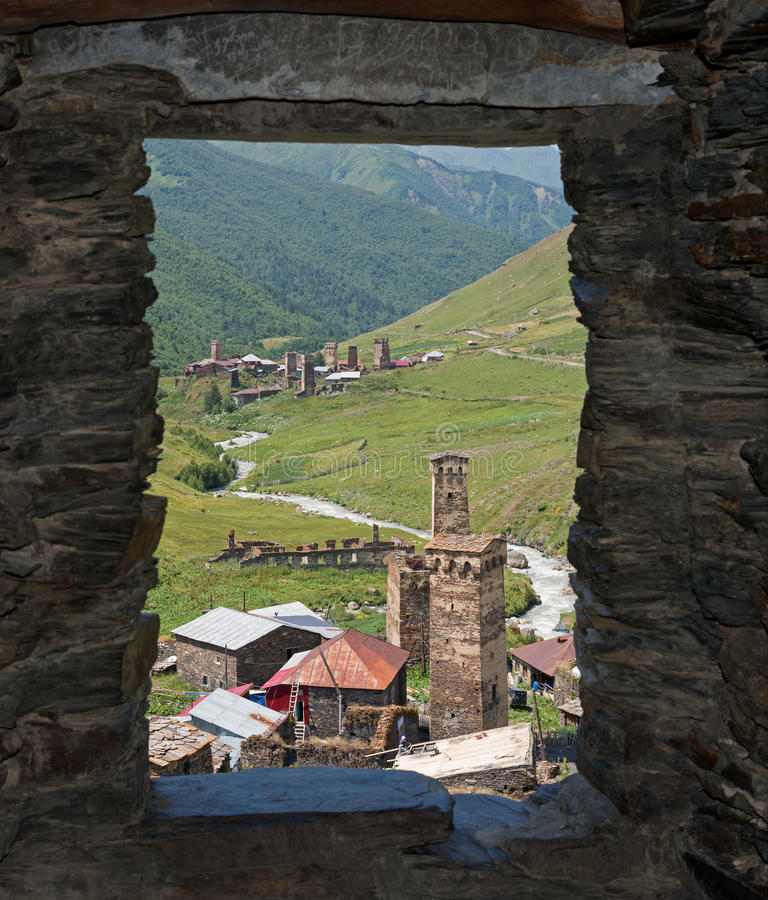 Free Svaneti From Tower Window Royalty Free Stock Photography - 64214737