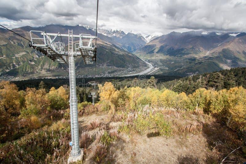 Svanetia το φθινόπωρο στοκ φωτογραφία με δικαίωμα ελεύθερης χρήσης