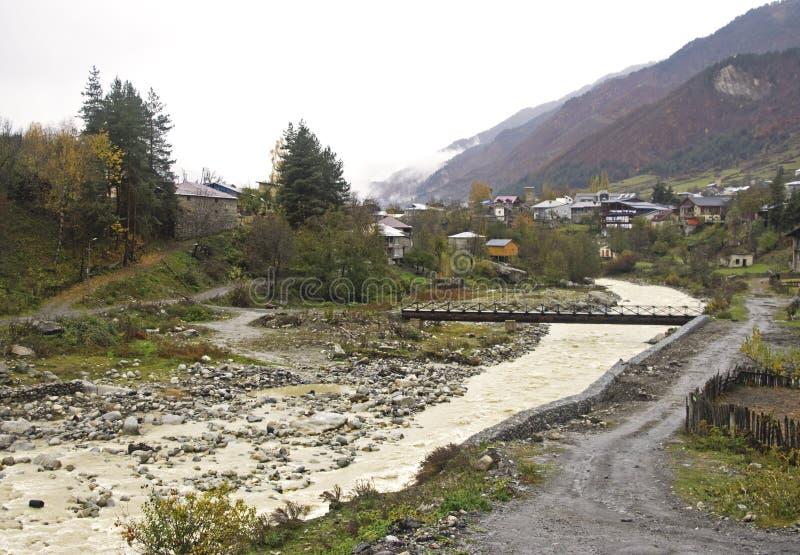 Svanetia region i Georgia royaltyfria bilder