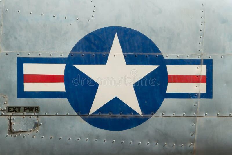 Svans av vietnamkrigetflygplanet royaltyfria foton