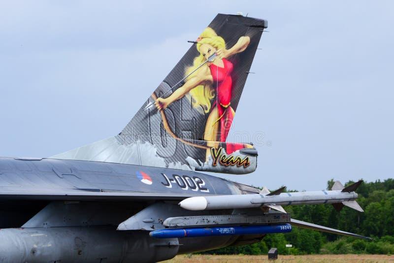 Svans för falk F16 royaltyfri bild