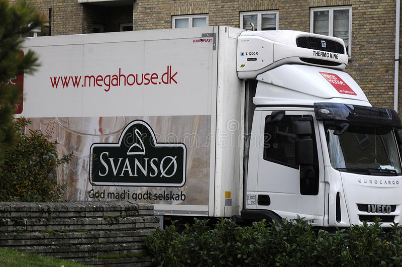 Svanso _megahouse karmowa doręczeniowa ciężarówka obrazy royalty free