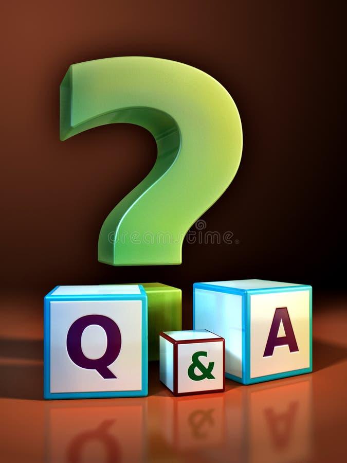svara frågan royaltyfri illustrationer