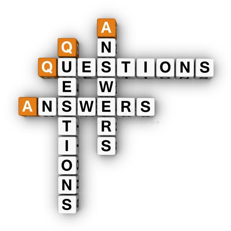 svarar fråga royaltyfri illustrationer