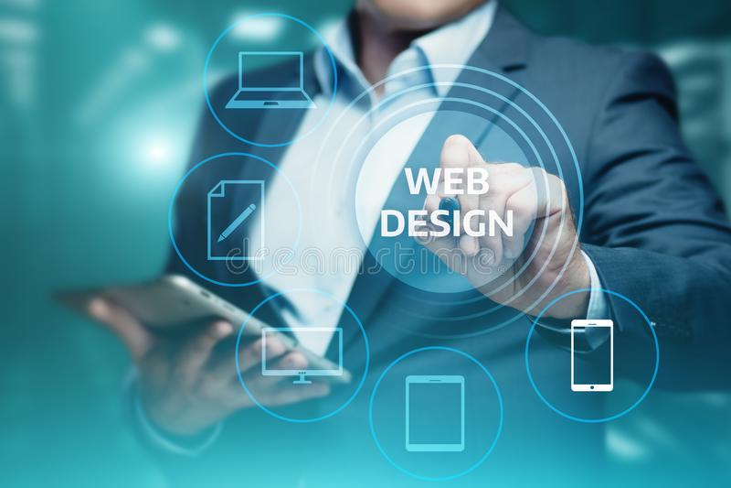 Svars- begrepp för teknologi för internet för affär för rengöringsdukDesing Website fotografering för bildbyråer