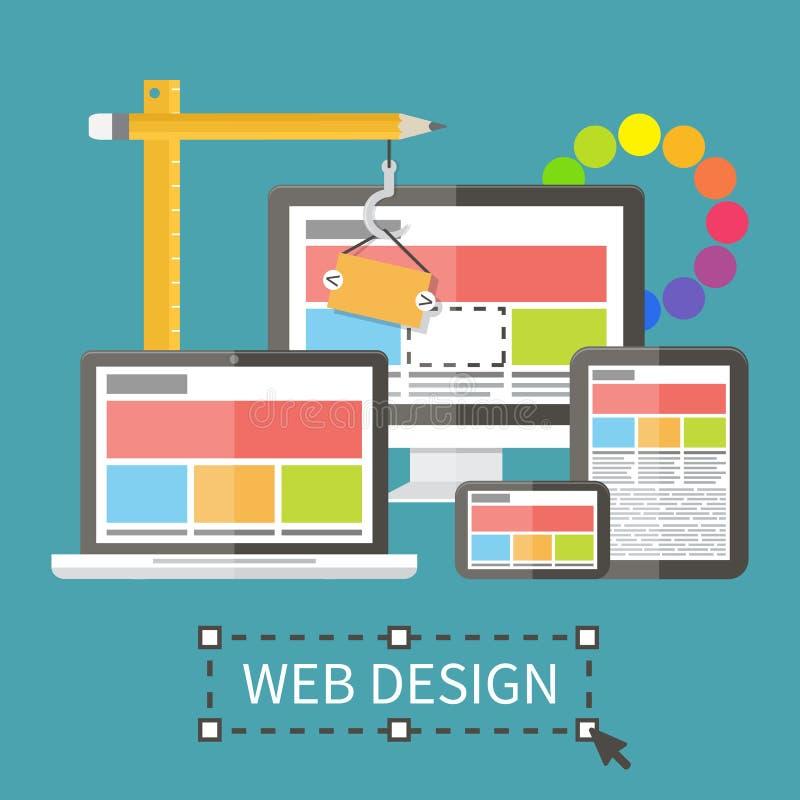 Svars- rengöringsdukdesign, applikationutveckling och royaltyfri illustrationer