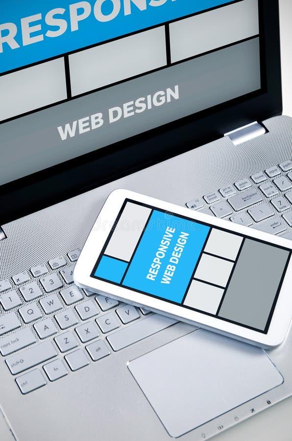 Svars- rengöringsdukdesign på mobila enheter royaltyfri bild