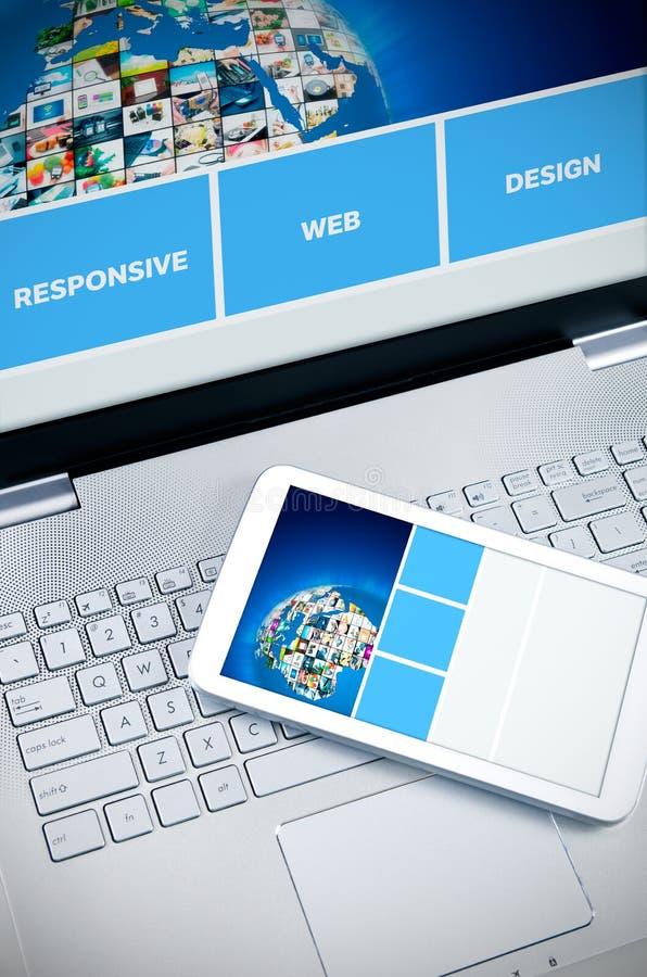 Svars- rengöringsdukdesign på mobila enheter royaltyfria foton