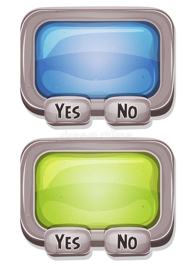 Svarsask för den Ui leken stock illustrationer