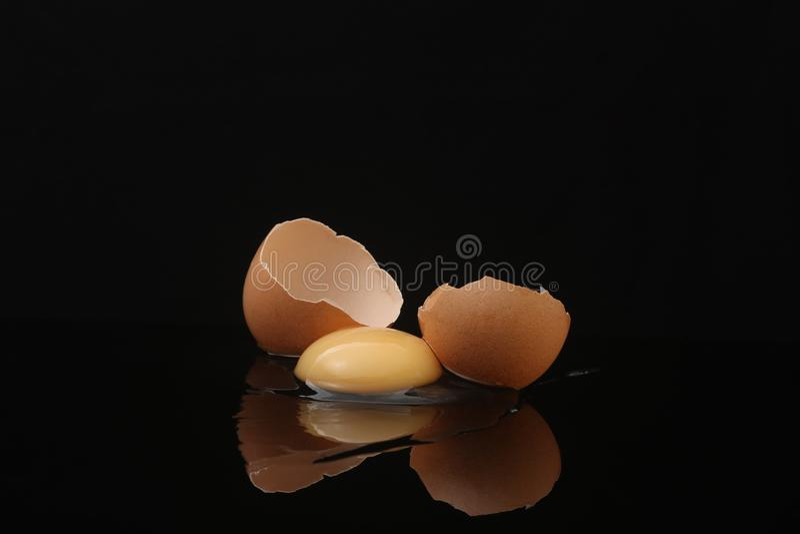 svart ägg arkivbild