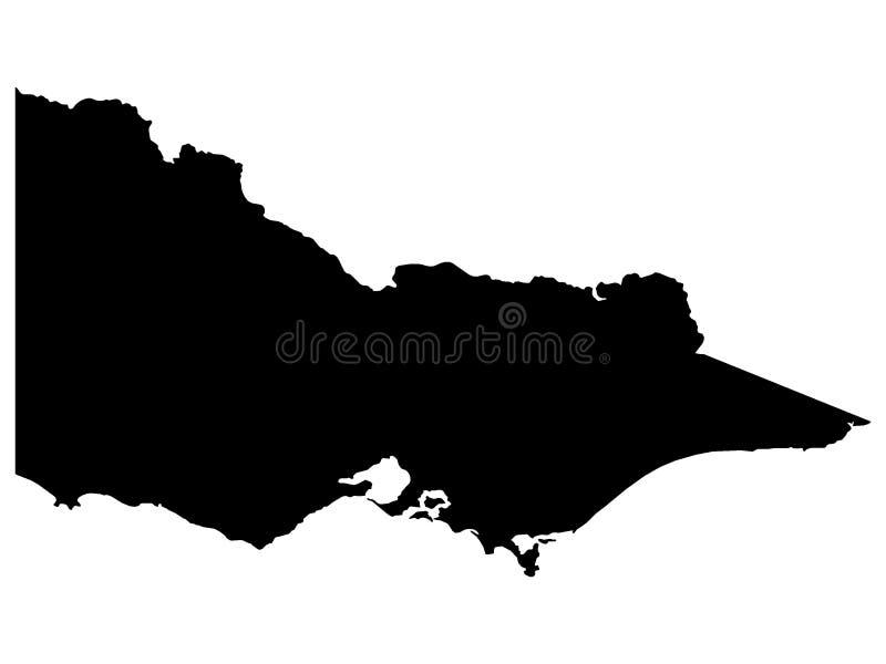 Svart översikt av australiska staten av Victoria vektor illustrationer
