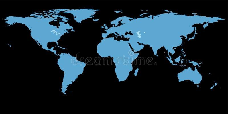 svart översiktsvärld för bakgrund royaltyfri illustrationer