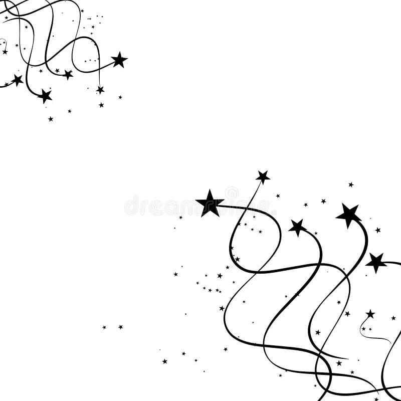 Svart abstrakt skjuta stjärna - royaltyfri foto