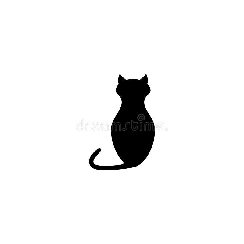 Svart av katten av den djura symbolen vektor illustrationer