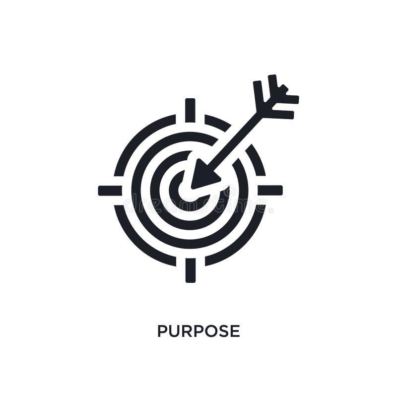 svart avsikt isolerad vektorsymbol enkel beståndsdelillustration från symboler för startbegreppsvektor redigerbart logosymbol för royaltyfri illustrationer