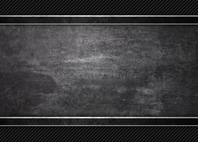 Svart bakgrund av grunge belägger med metall texturerar texturerar royaltyfri illustrationer