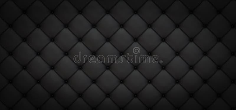 Svart bakgrund av långsträckta romber med knappar - illustration 3D stock illustrationer