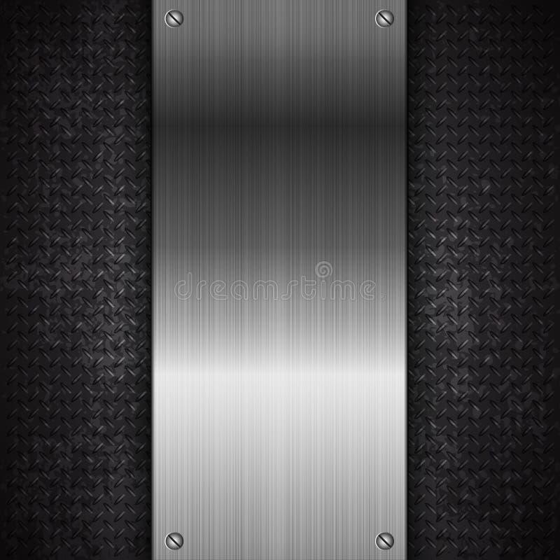 Svart bakgrund för metallteknologiabstrakt begrepp stock illustrationer