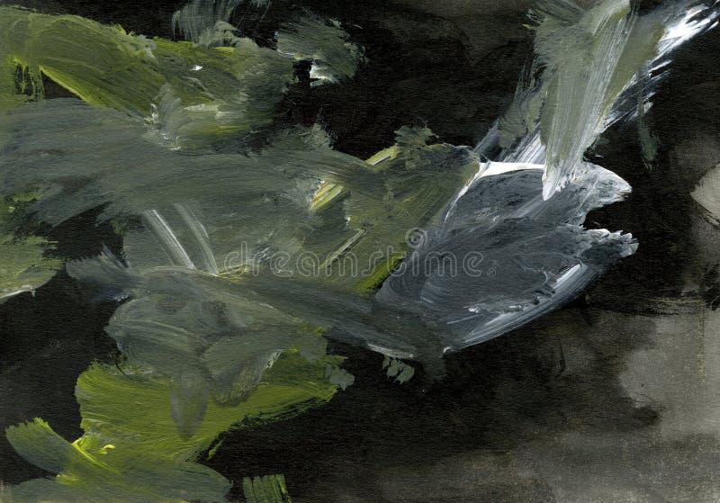 Svart bakgrund med akrylmålarfärger royaltyfri illustrationer