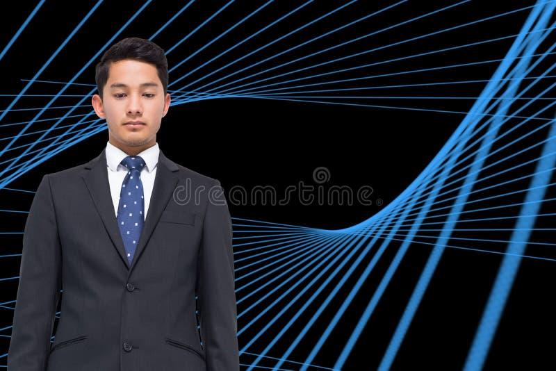 Svart bakgrund med blått raster fotografering för bildbyråer