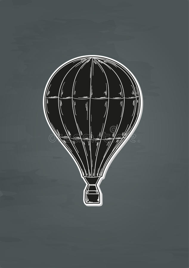 Svart ballong stock illustrationer