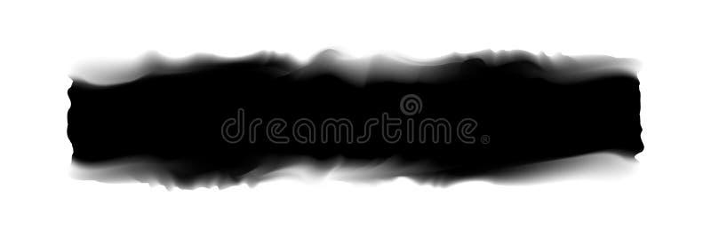 Svart band som målas i vattenfärg på vit bakgrund, svarta vattenfärgborsteslaglängder, digitalt mjukt för illustrationmålarfärgbo stock illustrationer