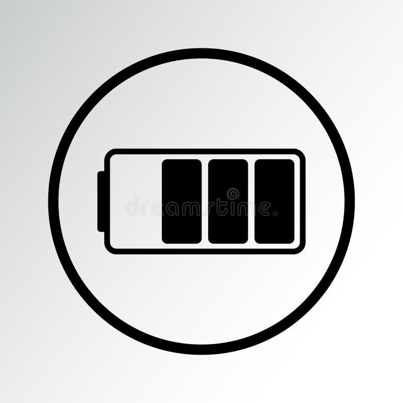 Svart batterisymbol ocks? vektor f?r coreldrawillustration royaltyfri illustrationer