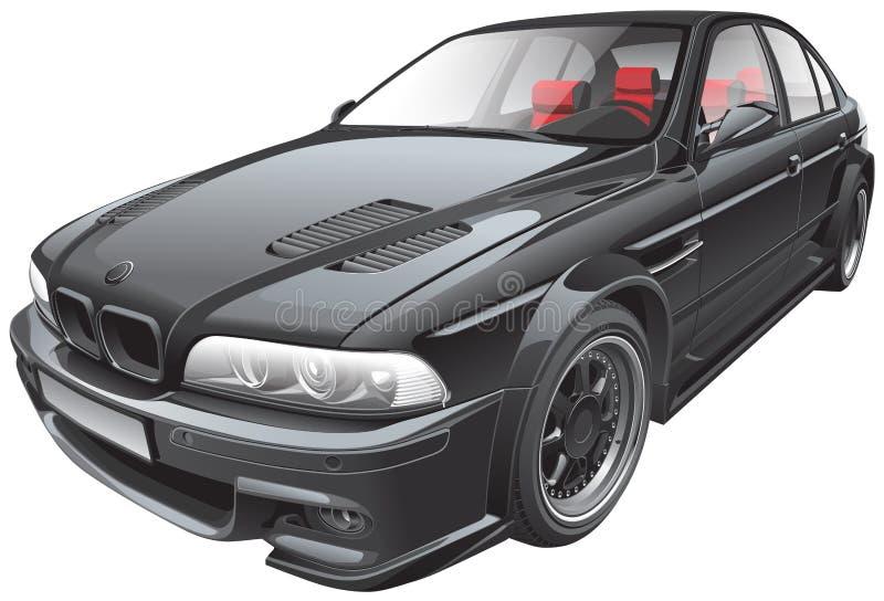 Svart beställnings- bil stock illustrationer