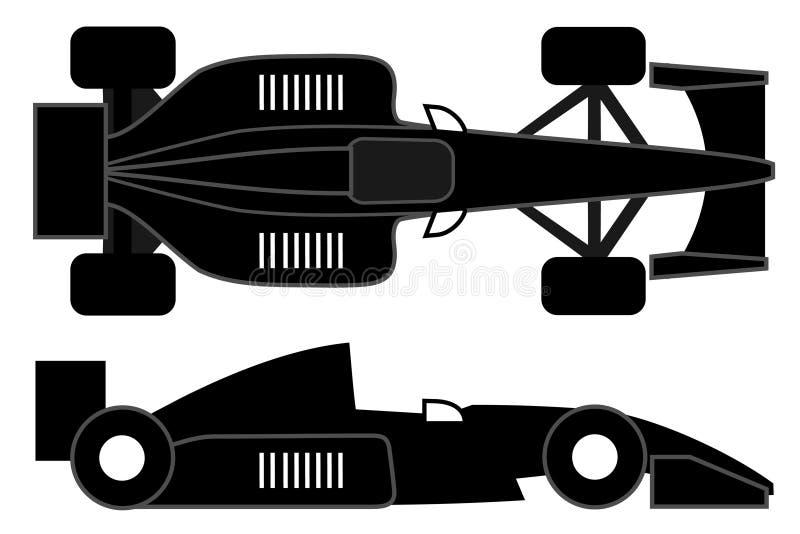 svart bil stock illustrationer